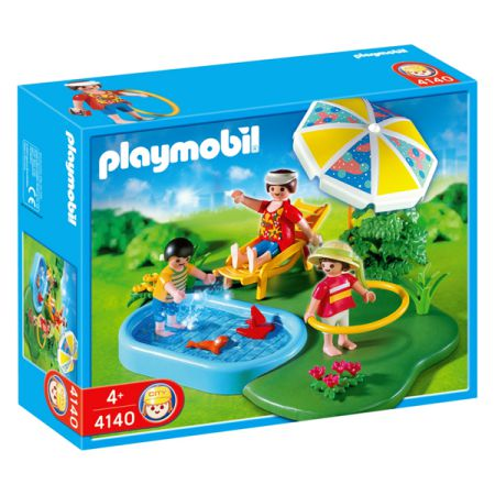 Playmobil 4140 compact set zwembad speelgoed for Piscine playmobil prix