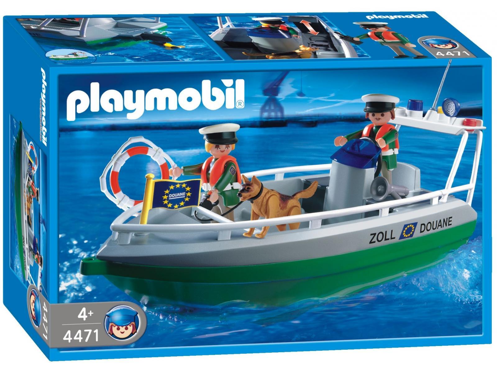 Playmobil Douane Politie met boot - 4471
